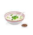 fish porridge vector image