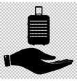 Icon on hand vector image