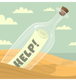 Message in the bottle vector image