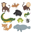 set of different animals of south america vector image