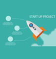start up project business infographic vector image