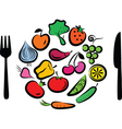 vegetables plate vector image