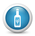 Wine bottle glossy icon vector image vector image