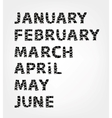 Months of year made from photo frames vector image vector image