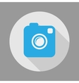 Photo or Video Camera Flat Style With Long Shadow vector image vector image