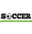 Soccer Word Art vector image