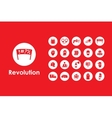 Set of revolution simple icons vector image