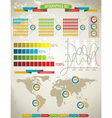 World Map and Charts vector image vector image
