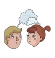 Brainstorming icon in cartoon style isolated on vector image