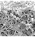 Cartoon cute doodles hand made frame design vector image