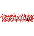 Congratulations 3d sign vector image