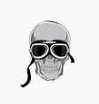 Dead biker graphic print Motocycle helmet and vector image