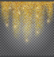 greeting card shimmer golden background vector image