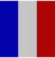 Knitted flag of France vector image