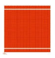 Knitted Seamless Red Background vector image