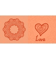 Love card Valentine flayer template Wedding vector image