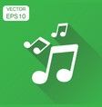 music note icon business concept sound note vector image