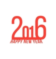 red happy new year 2016 vector image