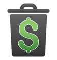 Trash Business Gradient Icon vector image