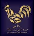 Vintage beautiful gold cock vector image