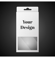 White Package Box Isolated On Black vector image