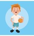 Boy kid cartoon design vector image