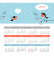 Calendar 2017 year with bird Week Starts Sunday vector image