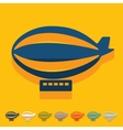 Flat design airship vector image