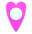 Map marker heart shape vector image