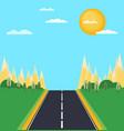 summer or spring landscape background vector image