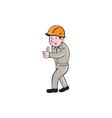 Builder Construction Worker Thumbs Up Cartoon vector image