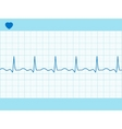 heart cardiogram fully editable  vector image vector image