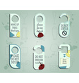 Brand identity elements- Door knob or hanger sign vector image