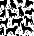 Dog seamless pattern vector image
