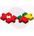 Switzerland and Benin Flags vector image