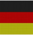 Knitted flag of Germany vector image