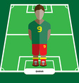 Computer game Ghana Soccer club player vector image