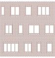 Brick facade pattern 1 vector image