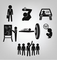 Business man icons vector image