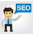 Business man with a word SEO vector image