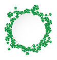 circle space with shamrock vector image
