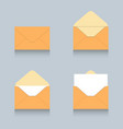 envelope icon logo set vector image