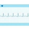 Heart cardiogram fully editable vector image