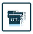 Oil tank storage icon vector image