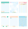 Paper Notebook Color Blue style vector image