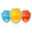shield option banner vector image