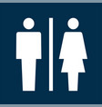 toilet sign icon vector image