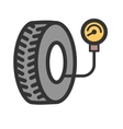 Tyre Air Pressure Checker vector image