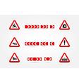set of Warning traffic signs vector image