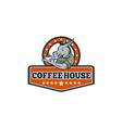 Army Sergeant Donkey Coffee House Cartoon vector image